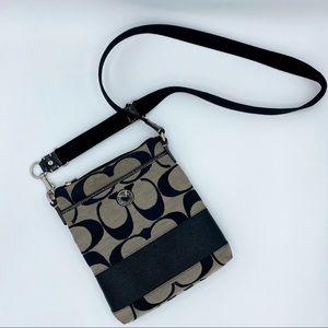 Coach Signature Stripe Swingpack Crossbody Bag
